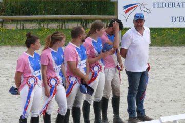 Championnat de france Horse ball clubs cheval centre equestre de la dame blanche chaponost lyon rhone