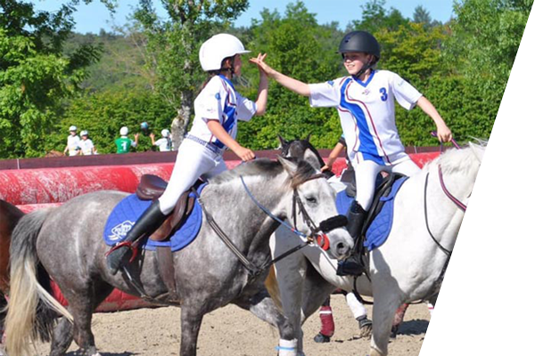 horse ball jeunes poneys poussins benjamins minimes centre equestre de la dame blanche chaponost lyon rhone