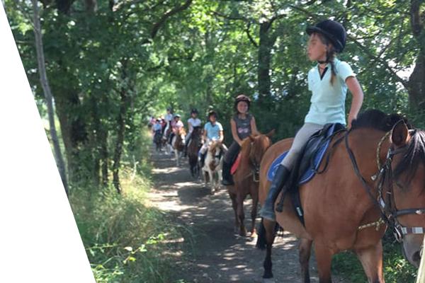 Balades a poneys enfants centre equestre de la dame blanche chaponost lyon rhone