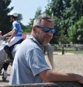 Gerant Lyonel coach de horse ball au centre equestre de la dame blanche chaponost lyon rhone
