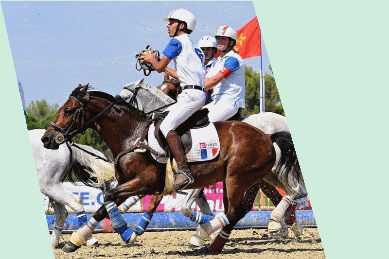 Match Horse ball cadet poney sélection équipe de France chaponost lyon rhone